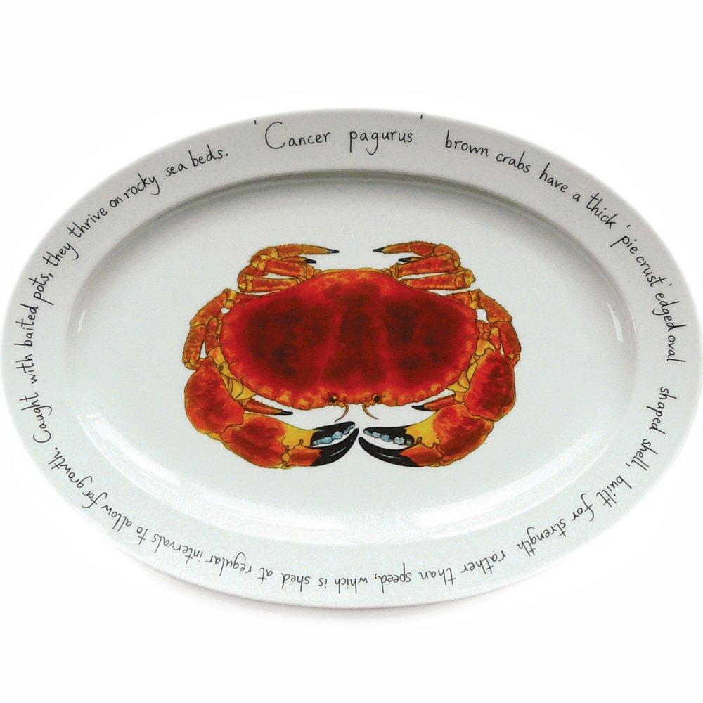 Jersey Pottery caballa Oval, Plato, Porcelana, Blanco, 28 x 39,5 x 28 cm: Amazon.es: Hogar