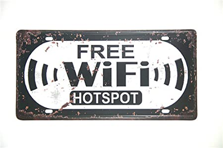 YDFOR Free WiFi Hotspot Hierro Cartel Pintura Cartel de ...