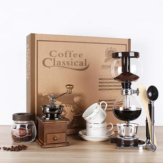 Ioouooi Juego de máquina de café Manual, cafetera Desmontable, Molinillo de café, Taza de café, licuadora, Cuchara medidora, Tela de Filtro, Granos de café, Valor: Amazon.es: Hogar