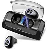 Wireless Headphones, Bluetooth 5.0 True Wireless Earbuds with 80H Playtime, Deep Bass, CVC8.0 Noise Cancelling Bluetooth Headphones with 2600mAh Charging Case, Built-in Mic for Runing, Workout