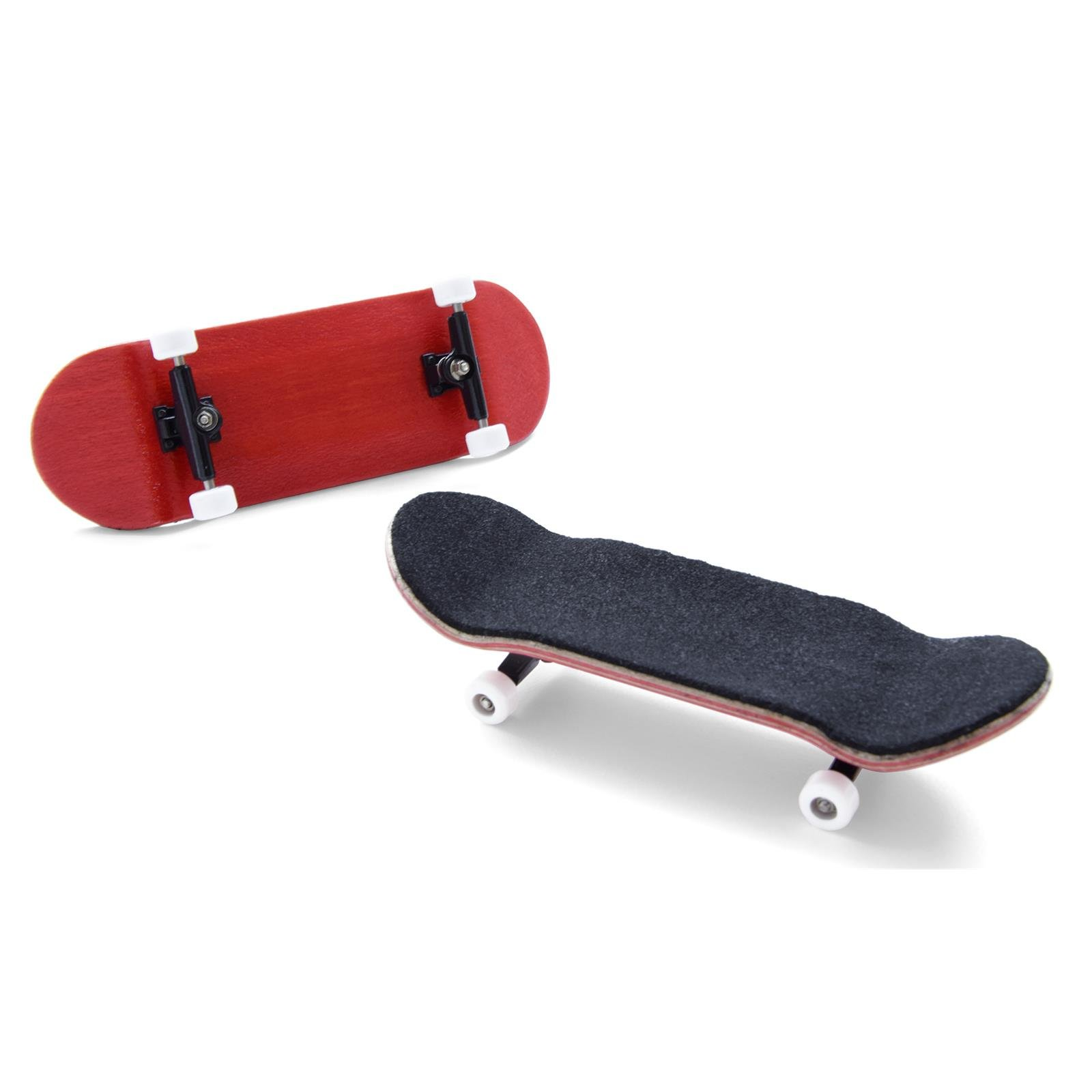 Mini finger skateboard – in red with ball bearings (assembly kit)