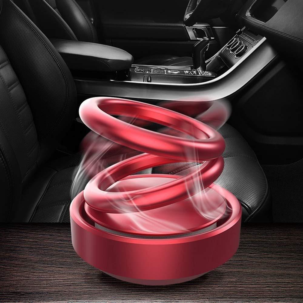 Solar Power Rotating Car Air Freshener Perfume, with Organic Fragrance