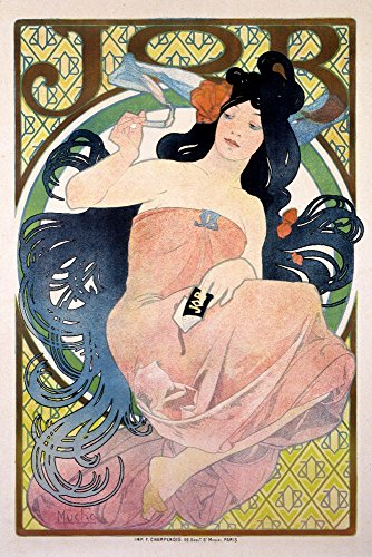 Job Vintage Poster (artist: Mucha, Alphonse) France c. 1898 (12x18 Art Print, Wall Decor Travel Poster)