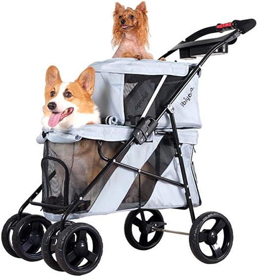 LYKH Pet Supplies Cochecito para Perro, Gato, Perro, Bicicleta ...