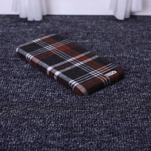 Wkae tissu rétro - angleterre luxe lignes vérifié pour slim en grille de protection hybride pour iphone 6 6s et couverture Wkae Case Cover ( PATTERN : 2 , Size : IPhone 6S 6 )