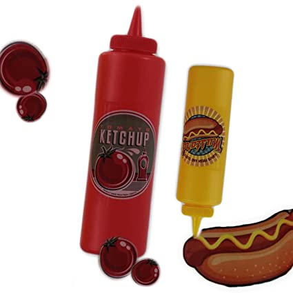 getgastro – Botella Dispensador de salsa Vintage 2 unidades Mostaza Ketchup Heinz 400 ml 21 X