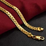 Women & Men Fashion 18K Gold Plated Necklace Chain Jewelry NEW