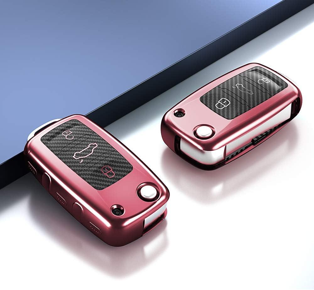 AIRSPEED Pink Key Fob Cover Shell for Volkswagen VW Polo Lavda Jetta Beetle Passat B5 B6 B7 Bora Santana Tiguan