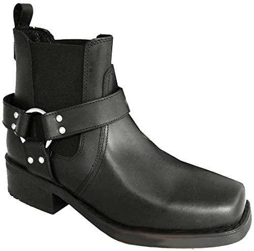 Mens Terminator Leather Biker Cowboy Ankle Boots Ref Style Brass 66:  Amazon.co.uk: Shoes & Bags
