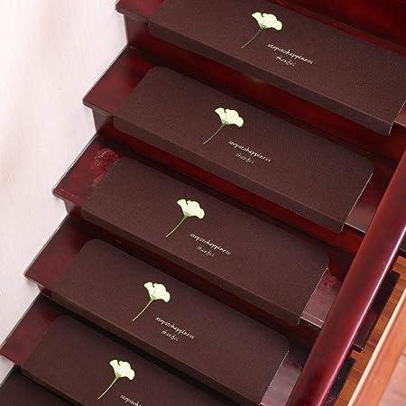 xtswllt Alfombra de la Escalera alfombras para escaleras Trébol de Fieltro, Petunia Dos Almohadillas de Escalera Opcionales, b, 25 * 70 cm * 5 Piezas: Amazon.es: Hogar