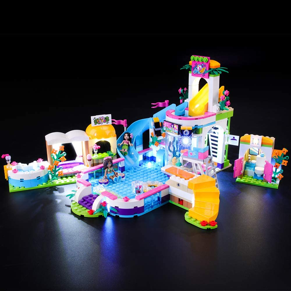 BRIKSMAX Led Lighting Kit for Friends Heartlake Summer Pool - Compatible with Lego 41313 - Not Include The Lego Set