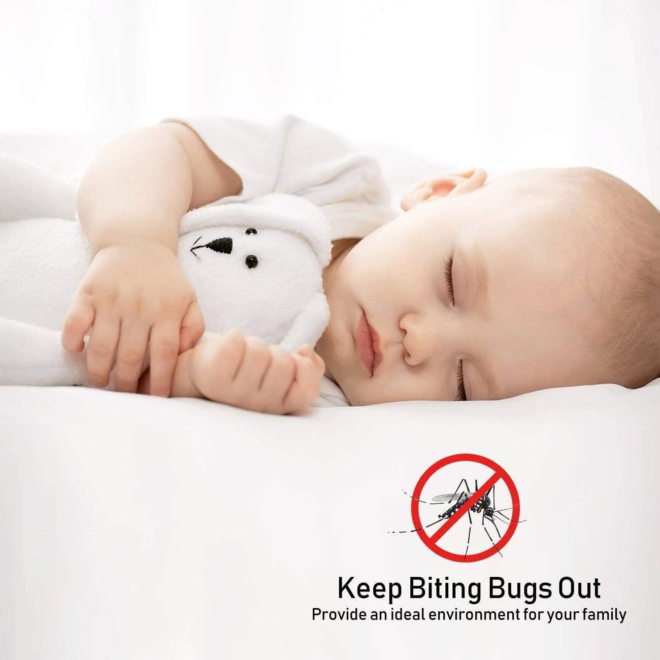 Se Cierra Magn/éticamente al Instante Mosquiteras Enrollables contra Insectos para Sala Puertas de Sal/ón Terraza Blanco 28x75inch MEIDEL Mosquitera para Puerta 70x190cm