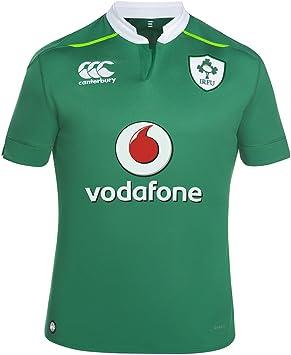 Canterbury Ireland VapoDri+ Home Pro Jersey 2016/2017- Camiseta de la primera equipación de selección irlandesa de rubgy de la temporada 2016/2017 de color verde (Bosphorous Green), para hombre, hombre, Ireland Vapodri Home