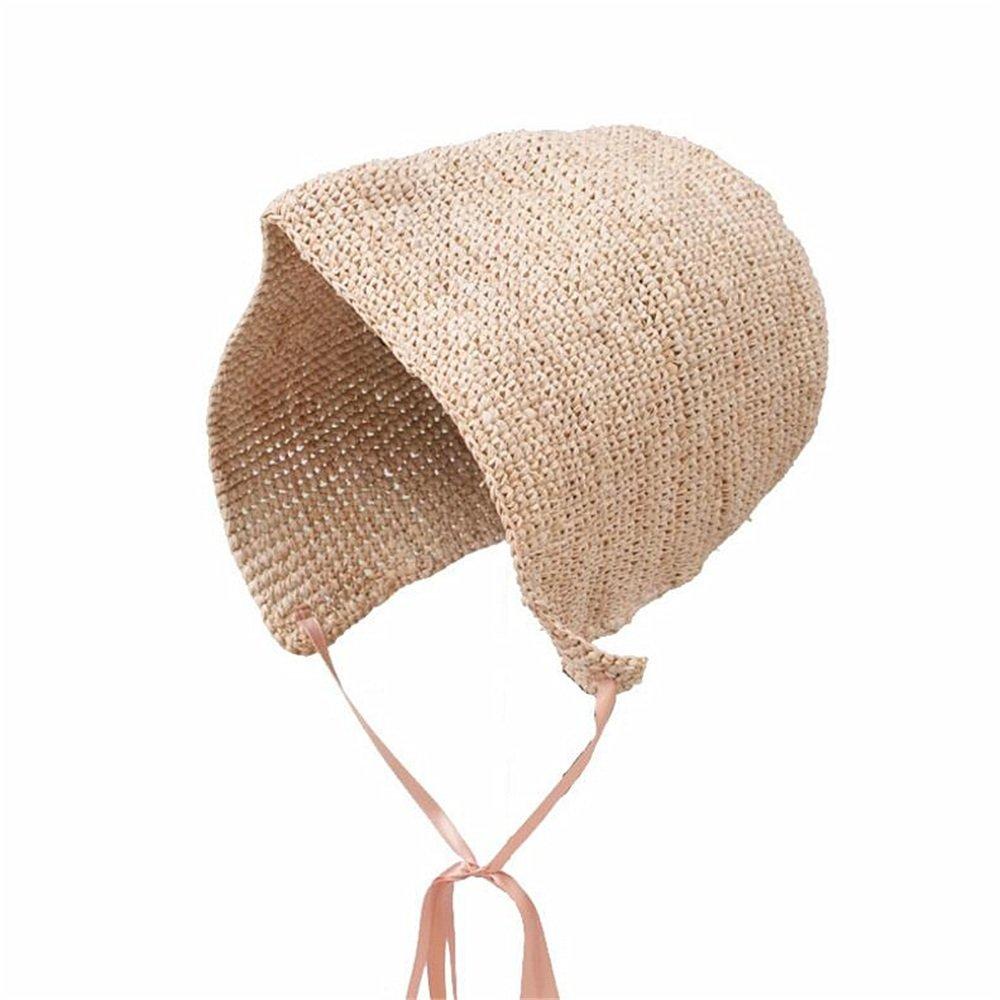 Shuo lan hu wai Frauen Hut Frühling und Sommer weiblichen Hut Raff häkeln Hut zu gehen Strand Hut Mädchen
