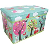 Jumbo Large Toy Boxes Laundry Kids Childrens Storage Chest with Padded Lid (Woodland Animals)