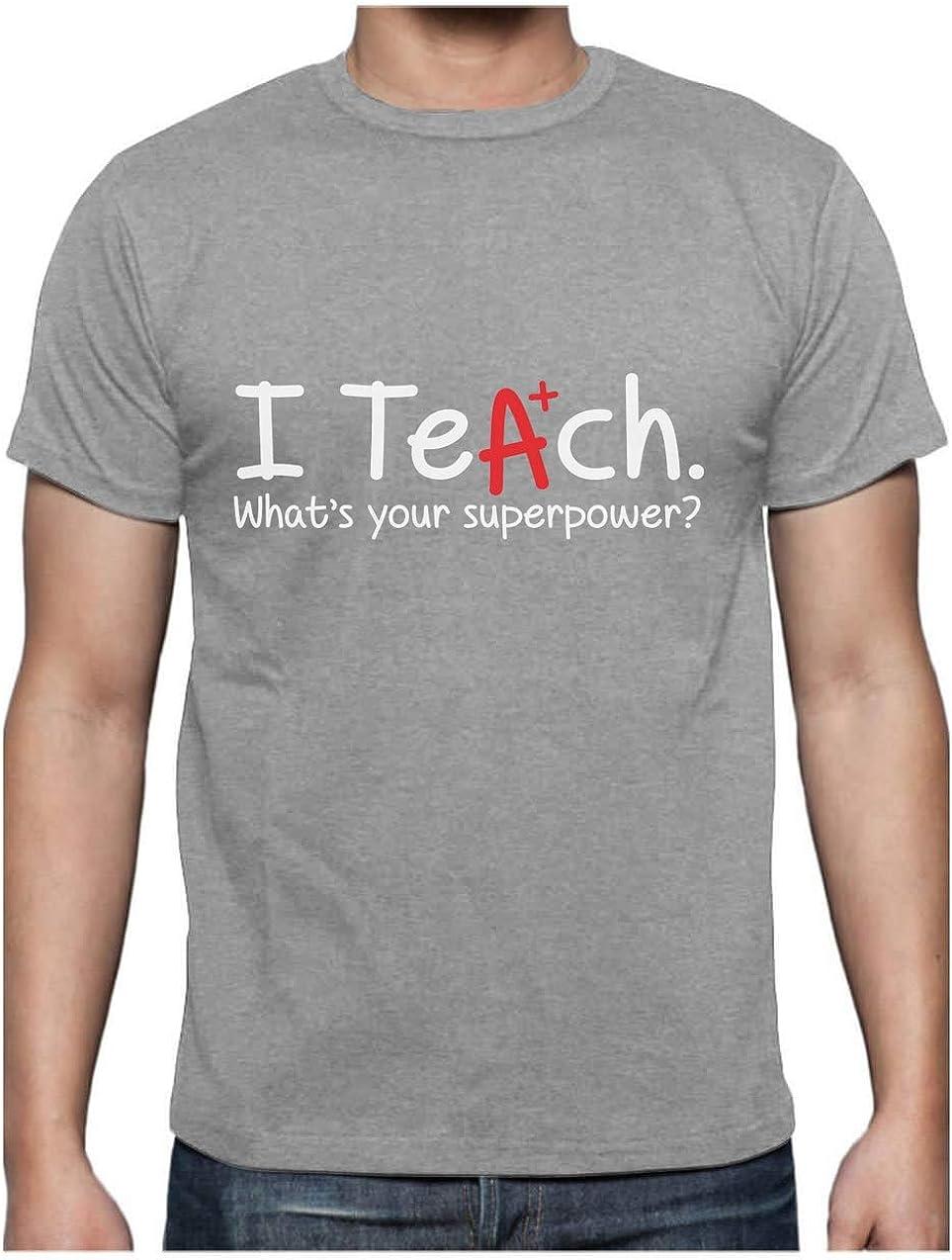 Green Turtle T-Shirts Camiseta para Hombre - Regalo para Profesor - I Teach Whats Your Superpower?