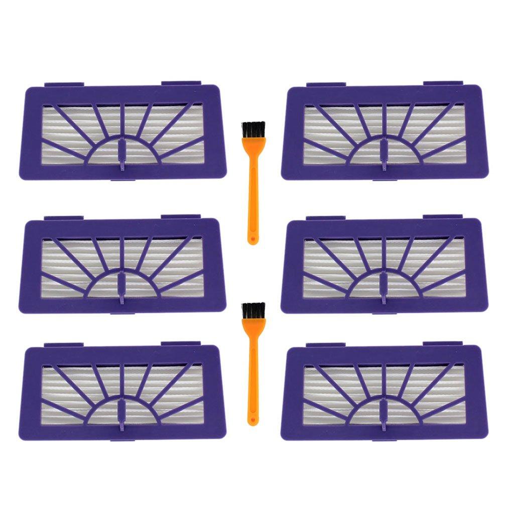 Aisen 6 Pack HEPA Pet e Allergie Filtro per aspirapolvere Neato XV 11, XV 12, XV 14, XV 15, XV 21, XV 25, XV Essential e XV Signature VORWERK VR100 schwebstoff Filtro XV Essential e XV Signature VORWERK VR100schwebstoff Filtro 945-0004