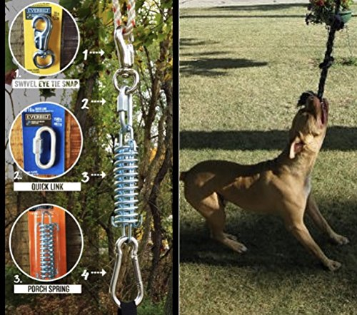 SoCal Bully Pit Bull Spring Pole - (1) Dog Conditioner - Muscle Builder - $15 Tug Rope Included !- Fun for all Breeds! - Priority mail shipping! (Bull Pit Bully)