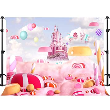 Amazon.com: EARVO - Fondo rosa para fotografía de castillo ...