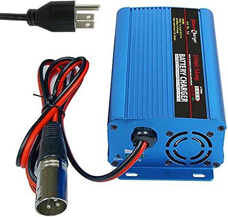 Amazon.com: Cargador de batería automático de 24 V 5 A para ...