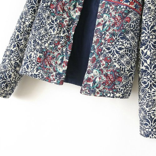 Slim Color Coat Giacche Minetom Blouson Camicetta Ricamo Giacca Jacket Retro Biker Girocollo One Donna wqqPO6FxvC