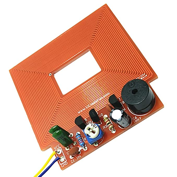 Gazechimp Kit de Detector de Metales Bricolaje Electrónico Uso Entretenimiento de Juegos Control de Seguridad: Amazon.es: Electrónica