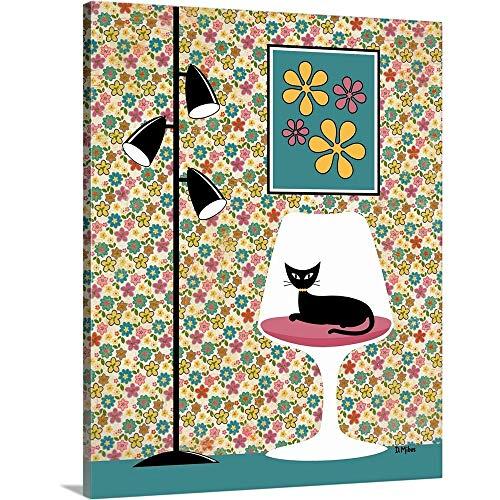 "Mod Wallpaper in Floral Canvas Wall Art Print, 16""x20""x1.25"""