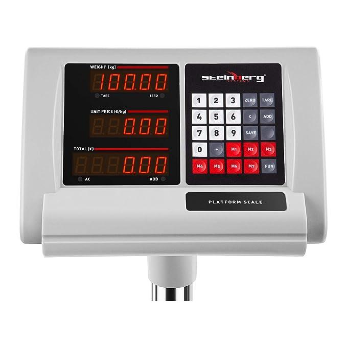 Steinberg Systems Báscula De Plataforma Bascula Industrial de Suelo SBS-PF-100/10A (100 kg / 10 g, Superficie Pesaje 40 x 30 cm): Amazon.es: Oficina y ...