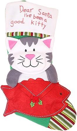 Decoraciones Navideñas Calcetines Garra Gato Garras Perro Gatitos ...
