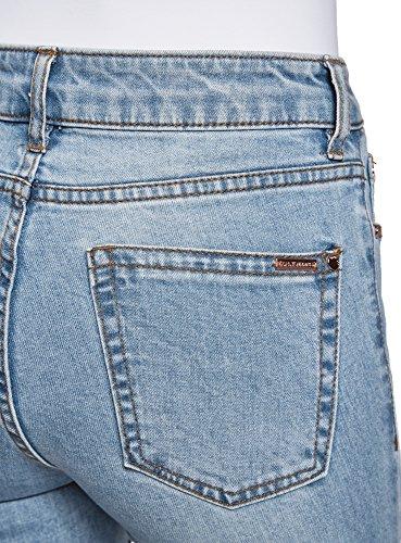Mujer Azul de Vaqueros oodji Ultra Alta Slim 7000w Cintura 1qw0Ox