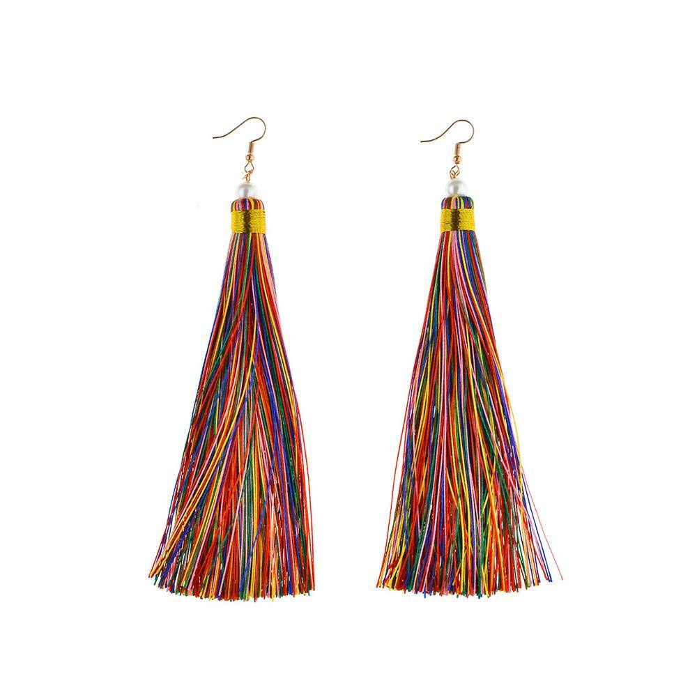 VJUKUBWINE Bohemia tassel earrings