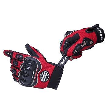 Guantes de motos motocicleta para carreras todo terreno, guantes de moto para pantallas táctiles resistentes