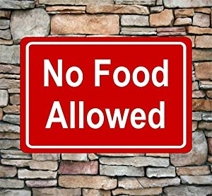 11.8x7.9 Inch New No Food Allowed Metal Sign Aluminum Indoor Outdoor Pick Color