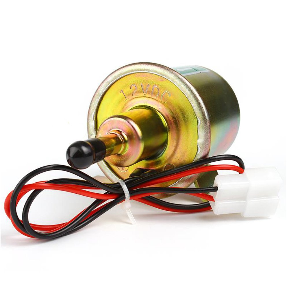 12V Electric Fuel Pump Low Pressure Bolt Fixing Wire Diesel Petrol HEP-02A