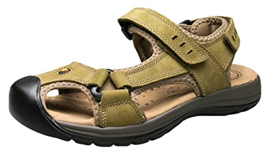 9b9d27dec2ae Wentsven Sandles Outdoor Closed Toe Beach Hiking Sandals For Men Green 40