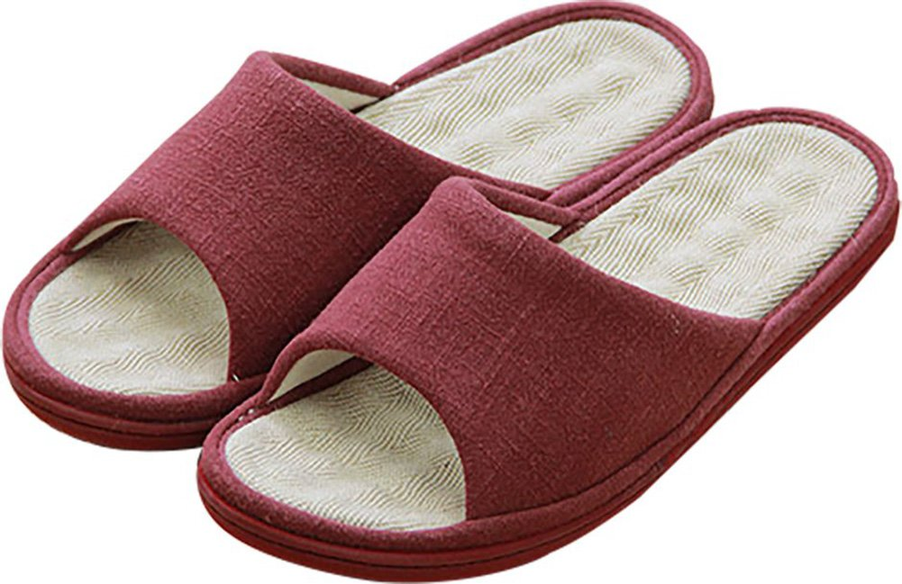 Happy lily unisex slip on pantofole anti scivolo?di misto cotone e