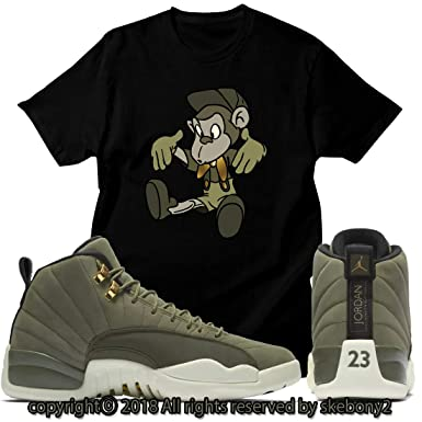 73a1a5984ca Custom T Shirt Matching Air Jordan 12 CP3 Olive Canvas Class of 2003 JD  12-6-13 at Amazon Men's Clothing store: