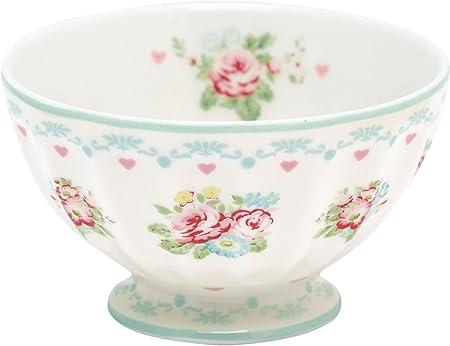 GreenGate Blumen Elouise white French Bowl // Müslischale // Schüssel