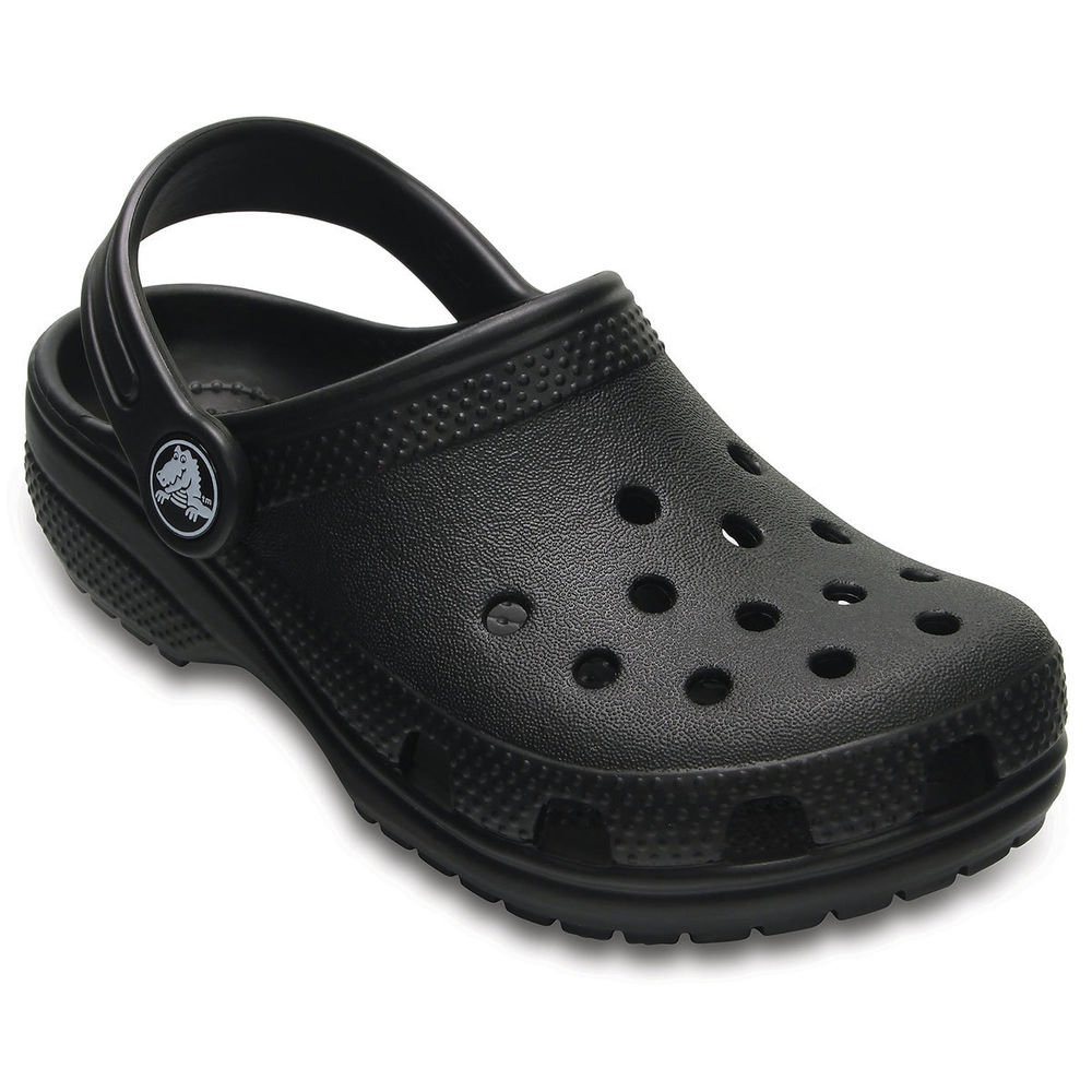 Crocs Kids Classic Clogs, Black 8