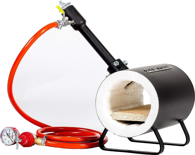 Forja de gas propano para fabricación de cuchillos ...