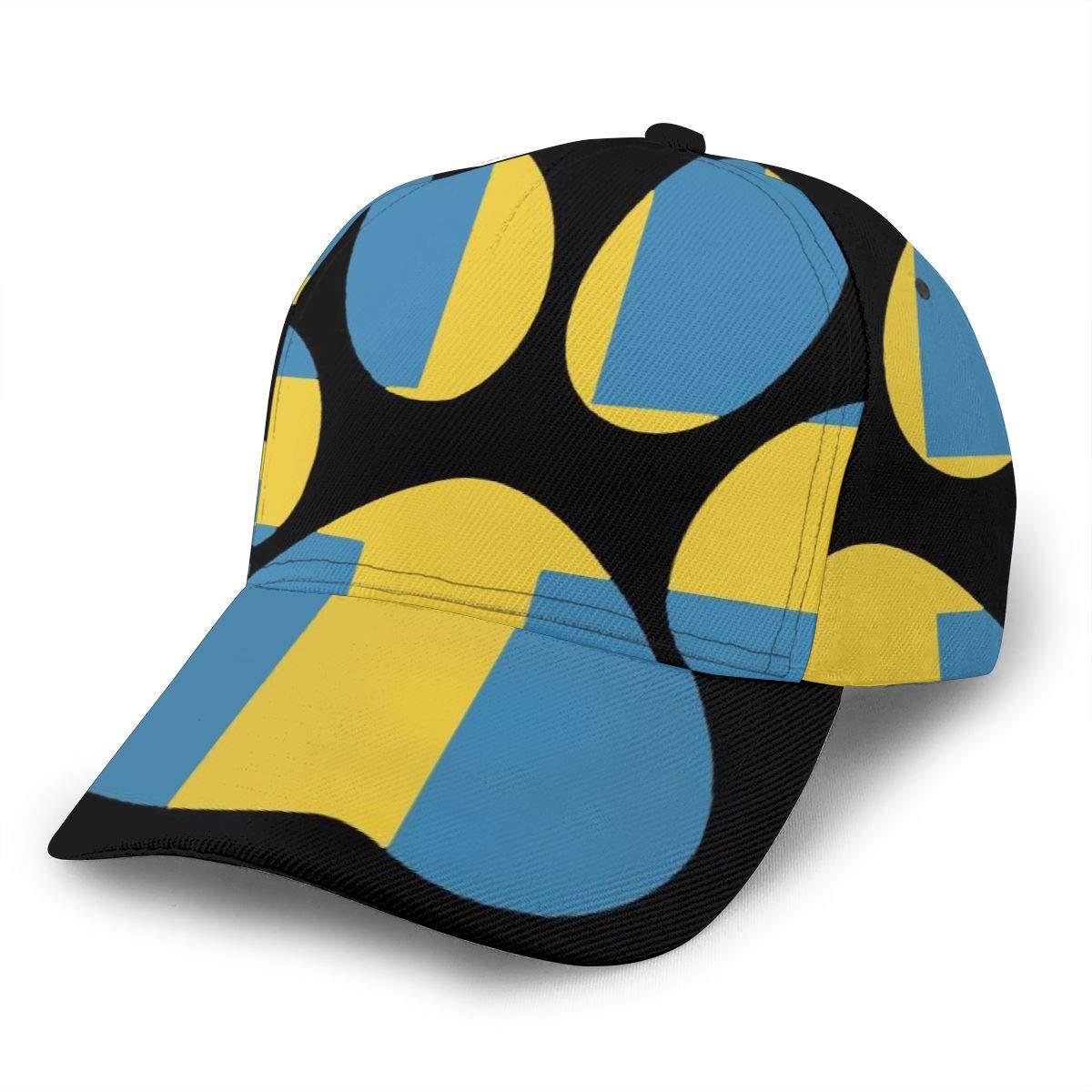 Sweden Paw Women Washed Denim Cotton Baseball Cap Sport Outdoor Adjustable Hats