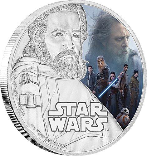 2017 NU Star Wars LUKE SKYWALKER The Last Jedi 1 Oz Silver Coin 2$ Niue 2017 Proof