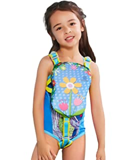 5ee8847c5c19f Megartico Kids' Swim Vest Swim Trainer Girls Buoyancy Swimwear Adjustable  Safety Strap Boys Removable Swim
