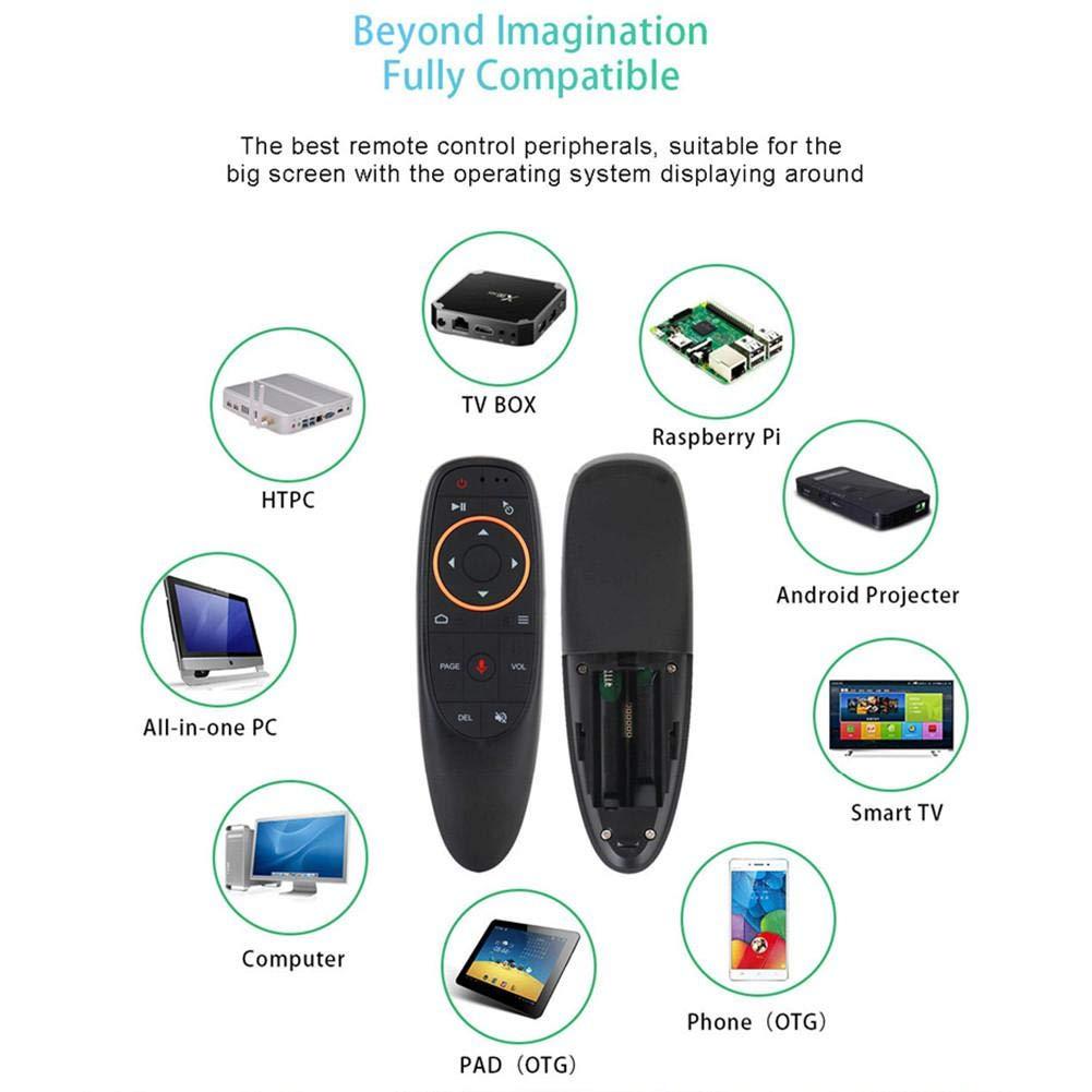 Android TV Box Negro G10s Talla /única Mini Teclado inal/ámbrico con retroiluminaci/ón y Mando a Distancia para Ordenador port/átil Calistouk PC
