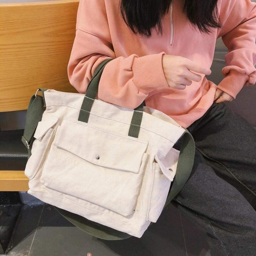 Sacs /À Main Port/és /Épaule Femme Sac en Toile Sac /À Bandouli/ère Big Bag Blanc Uni