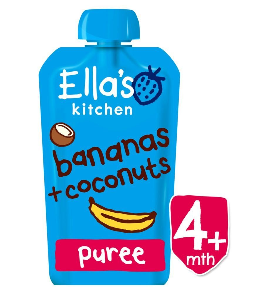 Amazon.com : Ella\'s Kitchen Bananas + Coconuts from 4 Months 120g ...