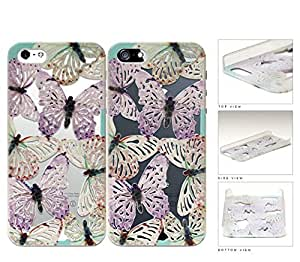 linJUN FENGWinter Multicolor Butterfly Cutout Hard Plastic Snap On Cell Phone Case Apple iPhone 5 5s