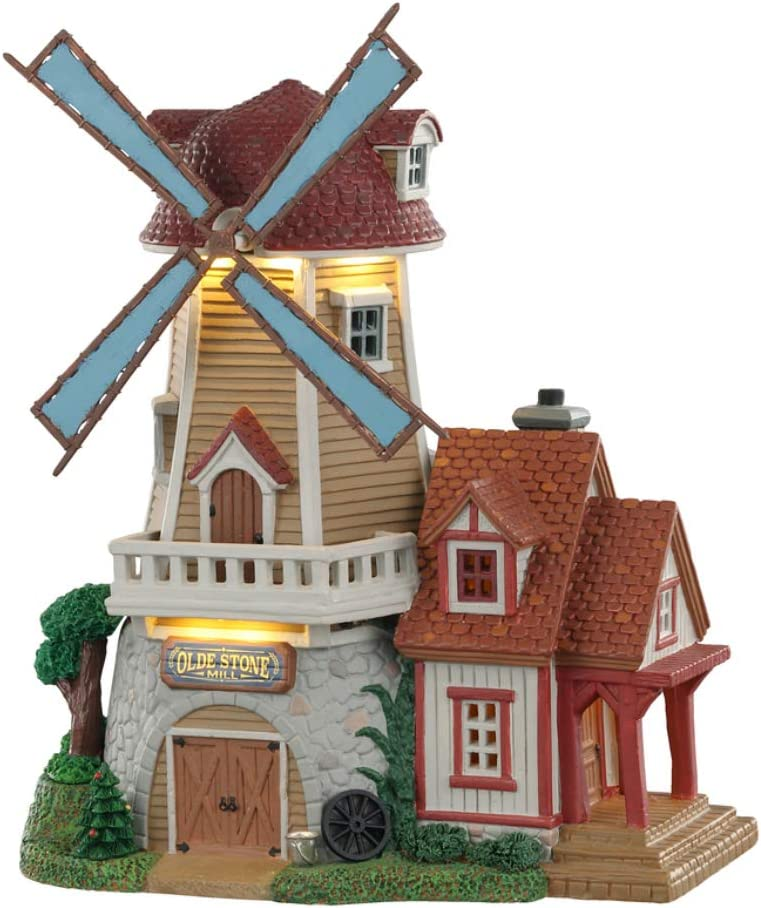 Lemax+05637+Olde+Stone+Mill+Village+Building%2c+Multicolored
