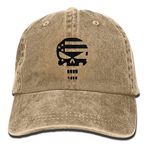 Punisher Walnut Dad American Baseball Hat Cap Flag Adjustable Gorras Border Hipster Cake béisbol CwwgFaq