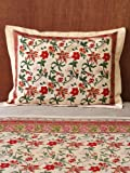 Tropical Garden ~ Colorful Country Standard Pillow Sham Flanged 27'' x 21''